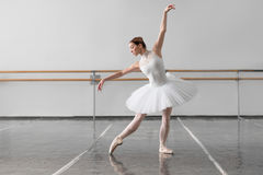 Beautiful female ballet dancer in class Royalty Free Stock Photography
