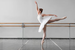 Beautiful female ballet dancer in class Royalty Free Stock Photo