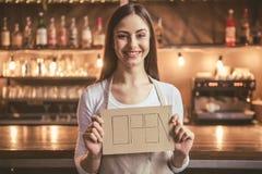 Beautiful female barista Royalty Free Stock Images