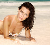 Beautiful female on the beach Royalty Free Stock Photography