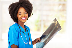 Black medical worker Stock Photo