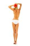 Beautiful female body. Isolated over white background Royalty Free Stock Photos