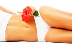 Beautiful female body. Isolated over white background Royalty Free Stock Image