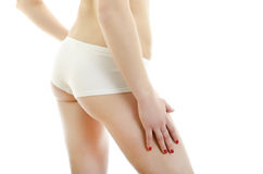 Beautiful female body back ass. Stock Photos