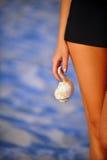 Beautiful female body isolated conceptual image Stock Photo