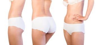 Beautiful female body isolated on white. Stock Photography