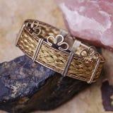 Beautiful female bracelet. On natural background stock photography