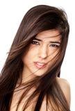 Beautiful female brunette Stock Photography