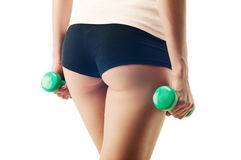 Beautiful female buttocks. Close up Royalty Free Stock Photography