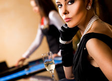 Beautiful female casino Stock Photo