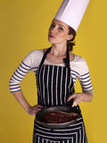 Beautiful female chef. Stock Photography