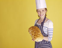Beautiful female chef. Royalty Free Stock Image
