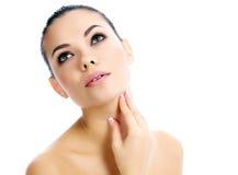 Beautiful female with clean fresh skin Stock Photo