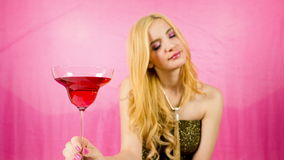 Beautiful female cocktail party or event stock footage