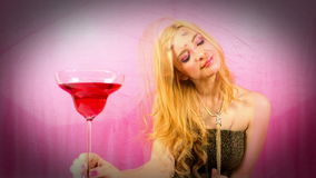 Beautiful female cocktail party or event stock video footage