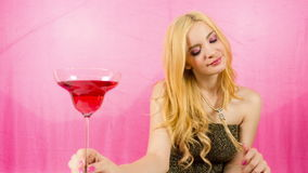 Beautiful female cocktail party or event Stock Photo