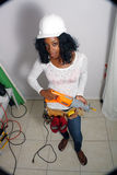 Beautiful Female Construction Worker (5) Royalty Free Stock Image
