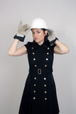 Beautiful Female Construction Worker (5) Royalty Free Stock Images