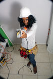 Beautiful Female Construction Worker (8) Royalty Free Stock Photos