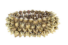 Beautiful female copper bracelet with studs Stock Image