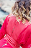 Beautiful female curly hairs - back view Stock Photography