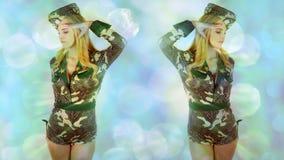 Beautiful female dance costume Stock Image