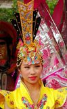 Beautiful Female Dancer at the Third Prince Temple Festival Stock Image