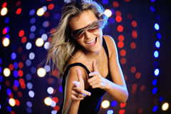 Beautiful female dancing. Horizontal image of beautiful female dancing Stock Photos