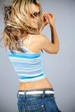 Beautiful female dancing Stock Image