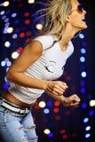 Beautiful female dancing. Vertical image of beautiful female dancing Stock Image