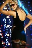 Beautiful female dancing. Vertical image of beautiful female dancing Stock Images