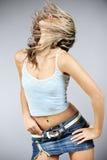 Beautiful female dancing. Vertical image of beautiful female dancing Royalty Free Stock Images