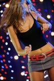Beautiful female dancing stock photo