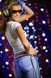 Beautiful female dancing Royalty Free Stock Photography