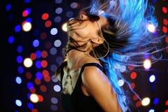 Beautiful female dancing. Horizontal image of beautiful female dancing Stock Photography