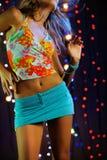 Beautiful female dancing. Vertical image of beautiful female dancing Stock Photography