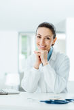 Beautiful female doctor posing Royalty Free Stock Image