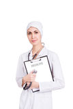 Beautiful female doctor with stethoscope Royalty Free Stock Images