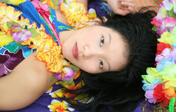 Beautiful Female Dreaming of Hawaii Royalty Free Stock Images