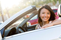 Beautiful female driver Royalty Free Stock Photos
