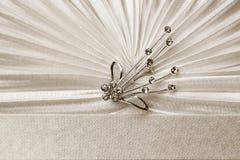 Beautiful female ecru bag detail Royalty Free Stock Photos