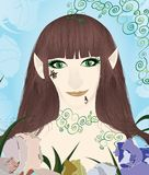 Beautiful female elf portrait Royalty Free Stock Photos