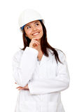 Beautiful female engineer Stock Photos