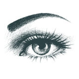 Beautiful female eye hand drawn Stock Image