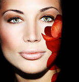 Beautiful female face Stock Photography