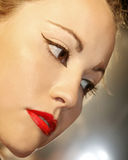 Beautiful Female Face Stock Images