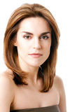 Beautiful female face stock photo
