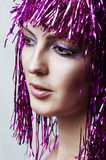 Beautiful Female face closeup Stock Photos