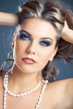Beautiful female face with fashion make-up Royalty Free Stock Photography