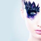 Beautiful Female Face. Fashion Makeup Royalty Free Stock Photo